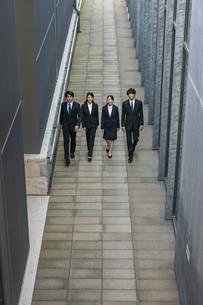 並んで歩く若者グループの写真素材 [FYI04583646]
