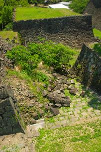 復旧工事中の熊本城の写真素材 [FYI04583991]