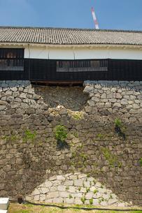 復旧工事中の熊本城の写真素材 [FYI04584023]