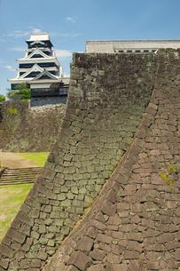 復旧工事中の熊本城二様の石垣の写真素材 [FYI04584025]