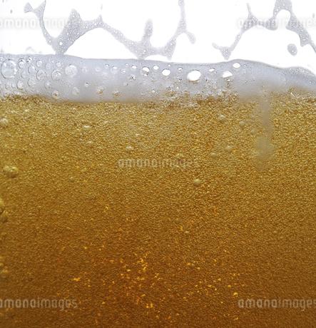 ビールの泡のクローズアップの写真素材 [FYI04584355]