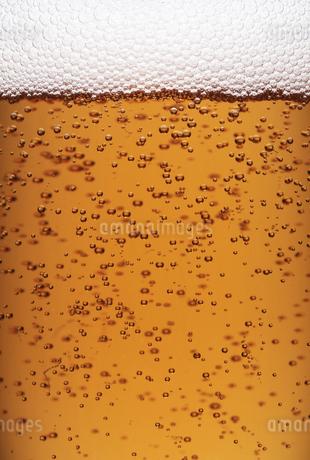 シャンパンの泡のクローズアップの写真素材 [FYI04584359]