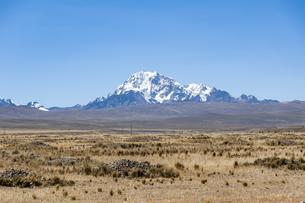 ボリビア・レアル山脈のワイナポトシ峰の写真素材 [FYI04585408]