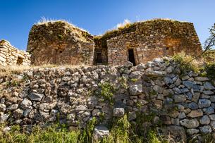 チチカカ湖・太陽の島のピルコカイナ遺跡の写真素材 [FYI04585419]
