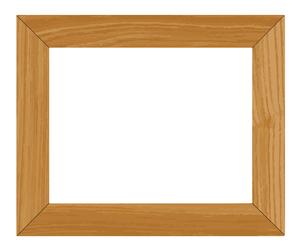 木材のフレーム 額縁素材のイラスト素材 [FYI04585892]