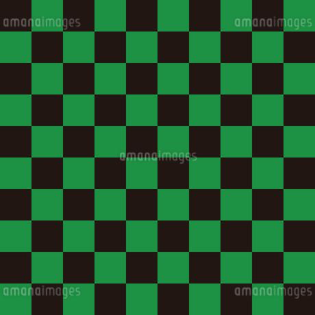 市松模様 黒×緑 L 3のイラスト素材 [FYI04586339]