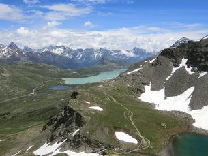 スイス、サンモリッツ、ラーゴビアンコの写真素材 [FYI04586805]