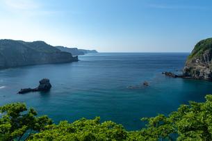 北海道夏の風景 積丹半島の海岸の写真素材 [FYI04587057]