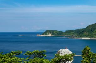 北海道夏の風景 積丹半島の海岸の写真素材 [FYI04587060]