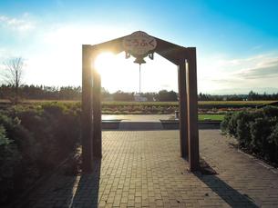 日没前の幸福駅(旧国鉄広尾線)の写真素材 [FYI04587297]