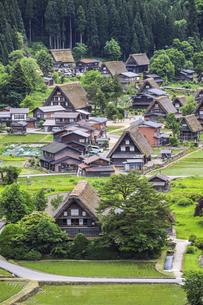 重要文化財和田家を見る白川郷合掌造り集落の写真素材 [FYI04587975]