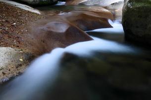 秋の渓谷のスローシャッター写真の写真素材 [FYI04588232]