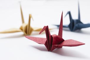 折り鶴の写真素材 [FYI04589042]