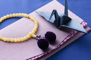 数珠と袱紗の写真素材 [FYI04589110]
