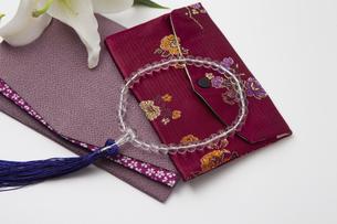 数珠と袱紗の写真素材 [FYI04589126]
