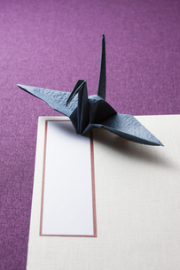 折り鶴と芳名録の写真素材 [FYI04589162]