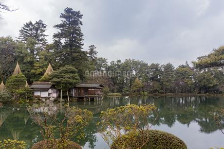 石川県金沢市 雨上がりの兼六園の写真素材 [FYI04589397]