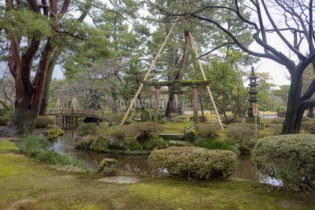 石川県金沢市 雨上がりの兼六園の写真素材 [FYI04589414]