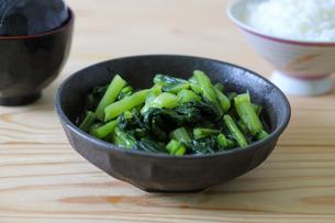 野沢菜の漬物の写真素材 [FYI04590889]