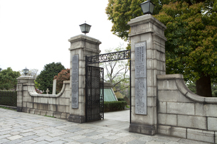 横浜外国人墓地の入り口の写真素材 [FYI04590989]