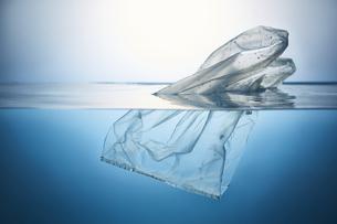 水に浮かぶポリ袋の写真素材 [FYI04591005]