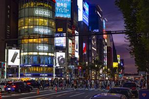 東京都中央区 夜の銀座の賑わいの写真素材 [FYI04591502]