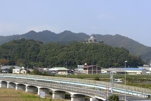 鳥取,清流茶屋,青空の河原城の写真素材 [FYI04591666]