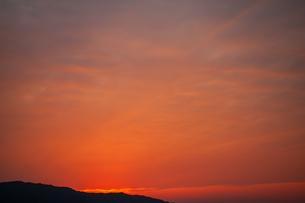 夕焼け空の写真素材 [FYI04592208]