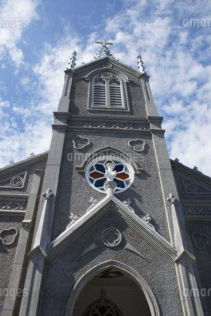天草崎津の町並み 崎津教会の写真素材 [FYI04592347]