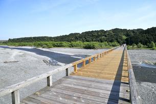 蓬莱橋と大井川の写真素材 [FYI04593083]