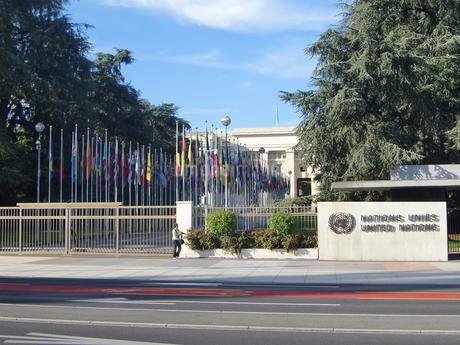 スイス、ジュネーブ、国連ヨーロッパ本部の写真素材 [FYI04593530]