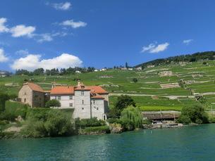 スイス、世界遺産ラ・ボー地区の写真素材 [FYI04593553]