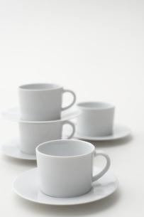 白いカップアンドソーサーの写真素材 [FYI04593628]