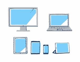 様々な種類のデバイスのイラスト素材 [FYI04593955]