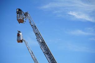 消防車のはしごの写真素材 [FYI04595020]