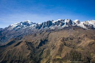 ボリビア・レアル山群の名峰イヤンプーとアンコウマの写真素材 [FYI04595322]