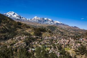 名峰イヤンプー峰とアンコウマ峰、ソラタ村の写真素材 [FYI04595354]