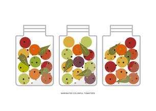 カラフルなミニトマトのマリネ イラストのイラスト素材 [FYI04595417]