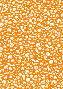ハロウィン デザイン素材 「カボチャとコウモリの柄(2)」のイラスト素材 [FYI04595948]