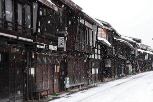 1月 雪の奈良井宿の写真素材 [FYI04596145]