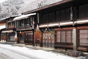 1月 雪の奈良井宿の写真素材 [FYI04596146]