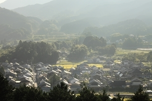 甘樫丘展望台より望む飛鳥集落の写真素材 [FYI04596820]