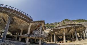 神子畑選鉱場跡の写真素材 [FYI04598182]