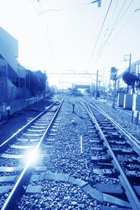 街 線路の写真素材 [FYI04598537]