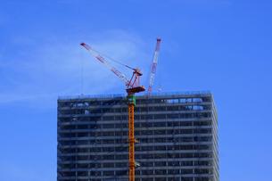 ビル建設のクレーンの写真素材 [FYI04598625]