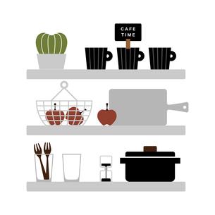 キッチンの収納のイラスト素材 [FYI04599355]