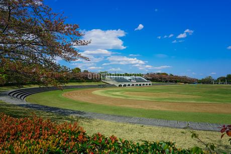 快晴の総合グラウンド 稲城中央公園の写真素材 [FYI04599545]