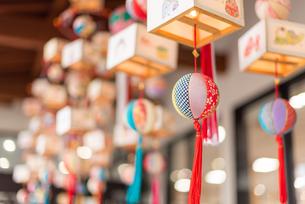 柳川の雛祭の飾り さげもんの写真の写真素材 [FYI04599569]