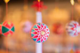 柳川の雛祭の飾り さげもんの写真の写真素材 [FYI04599576]