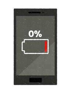 スマートフォン-電池切れのイラスト素材 [FYI04600269]